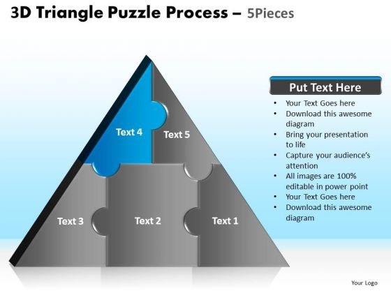PowerPoint Design Slides Process Triangle Puzzle Ppt Theme