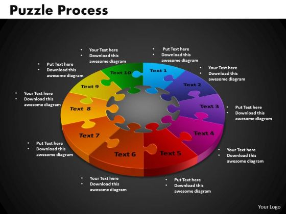 PowerPoint Design Slides Puzzle Process Business Ppt Backgrounds