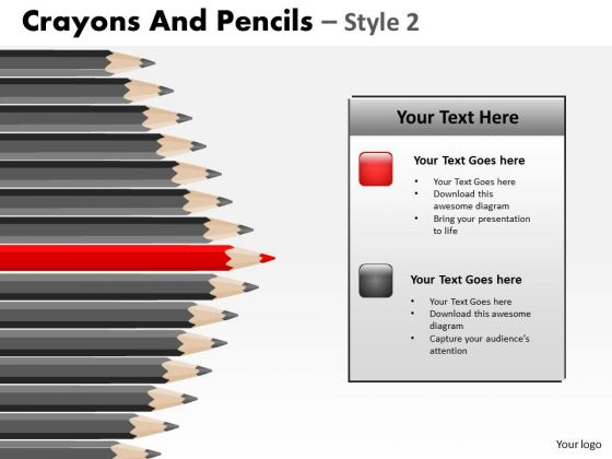 PowerPoint Design Slides Sales Crayons And Pencils Ppt Layouts