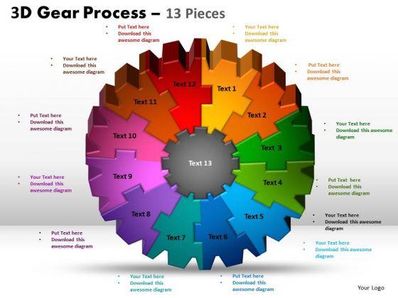 PowerPoint Design Slides Sales Gear Process Ppt Slide