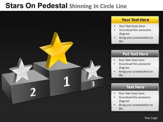 PowerPoint Design Slides Sales Pedestal Shinning Ppt Design Slides