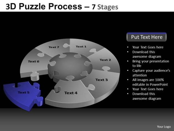 PowerPoint Design Slides Sales Pie Chart Puzzle Process Ppt Design