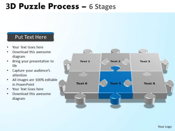 PowerPoint Design Slides Sales Puzzle Process Ppt Designs