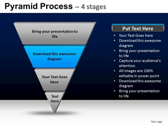 PowerPoint Design Slides Sales Pyramid Process Ppt Theme