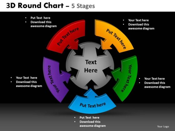 PowerPoint Design Slides Sales Round Chart Ppt Slide