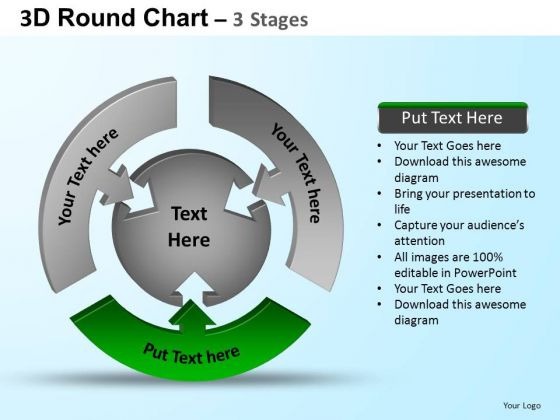 PowerPoint Design Slides Strategy Round Process Flow Chart Ppt Template