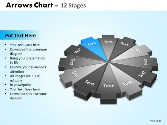 PowerPoint Design Slides Success Arrows Chart Ppt Slide