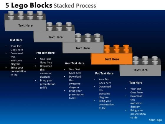 PowerPoint Design Slides Success Lego Blocks Stacked Ppt Designs