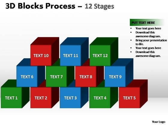 PowerPoint Design Slides Teamwork Blocks Process Ppt Design
