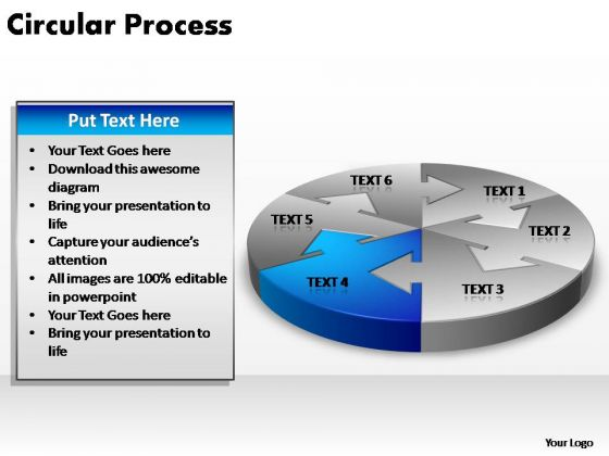 PowerPoint Design Slides Teamwork Circular Arrow Ppt Presentation