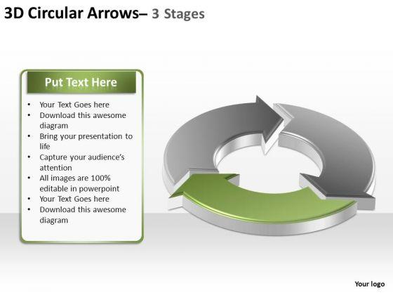 PowerPoint Design Slides Teamwork Circular Arrows Ppt Template