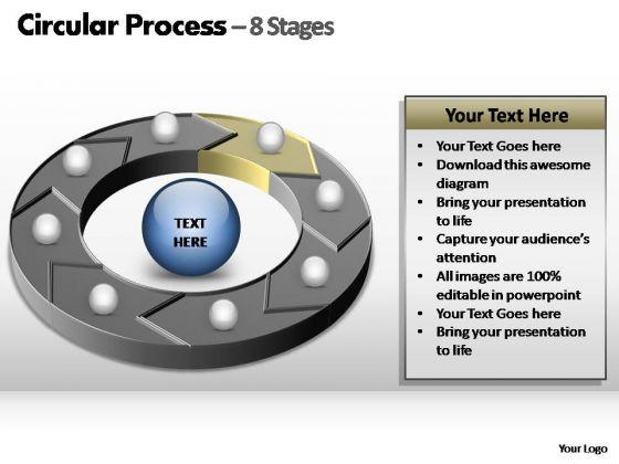 PowerPoint Design Slides Teamwork Circular Process Ppt Slide