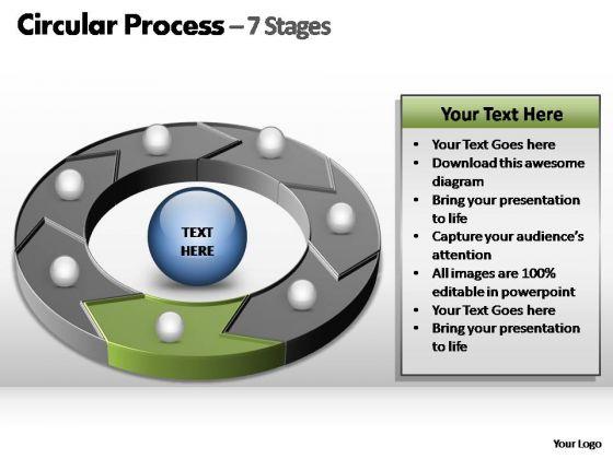 PowerPoint Design Slides Teamwork Circular Process Ppt Theme
