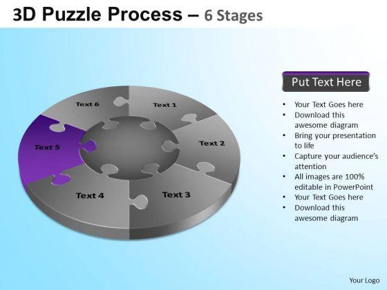 PowerPoint Design Slides Teamwork Jigsaw Pie Chart Ppt Slides