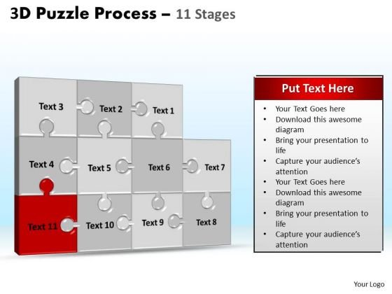 PowerPoint Design Slides Teamwork Puzzle Process Ppt Template
