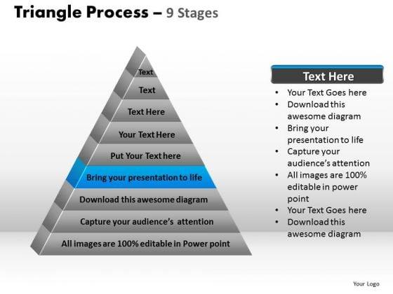PowerPoint Design Slides Teamwork Triangle Process Ppt Template