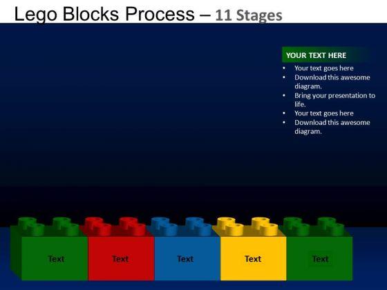 PowerPoint Design Success Lego Blocks Ppt Template