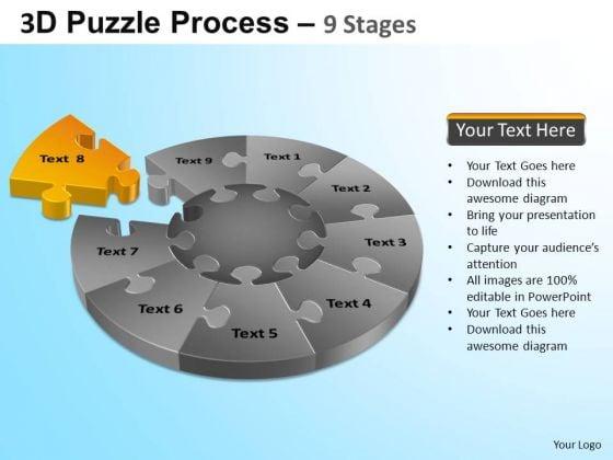 Powerpoint Design Success Puzzle Segment Pie Chart Ppt Template