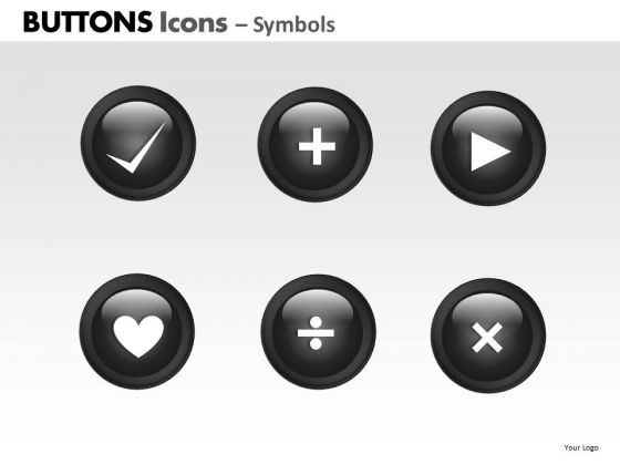 PowerPoint Design Teamwork Buttons Icons Ppt Templates