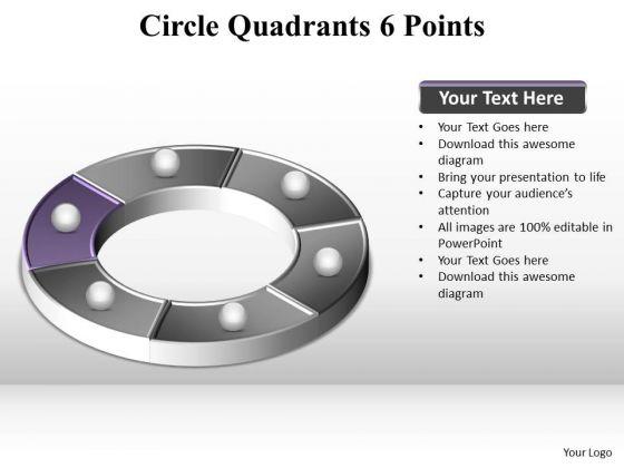 PowerPoint Design Teamwork Circle Quadrants Ppt Slides