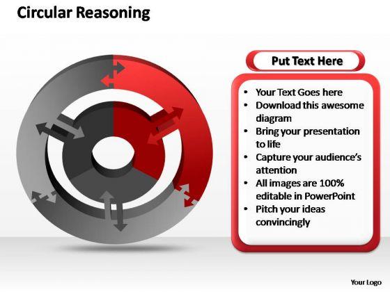 PowerPoint Design Teamwork Circular Reasoning Ppt Presentation