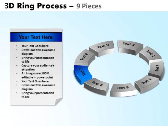 PowerPoint Design Teamwork Ring Process Ppt Slide