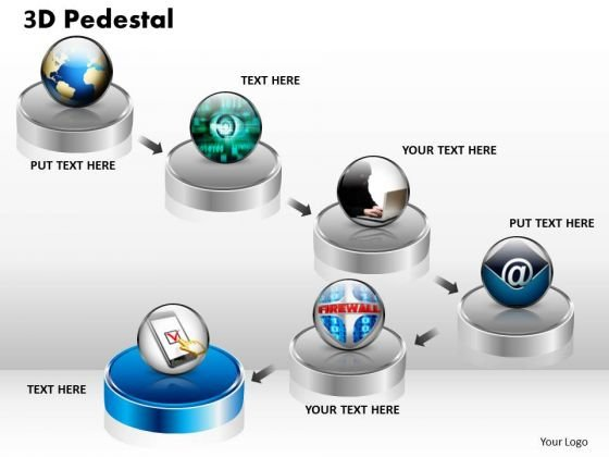 PowerPoint Designs Business 3d Pedestal Ppt Templates