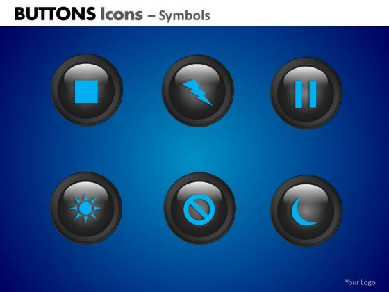 PowerPoint Designs Business Growth Buttons Icons Ppt Templates