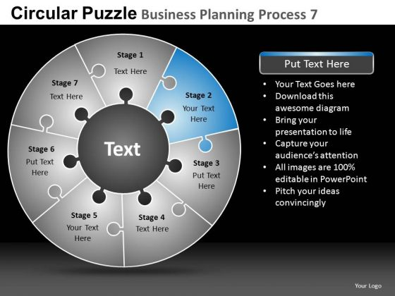 PowerPoint Designs Business Growth Circular Puzzle Ppt Layouts