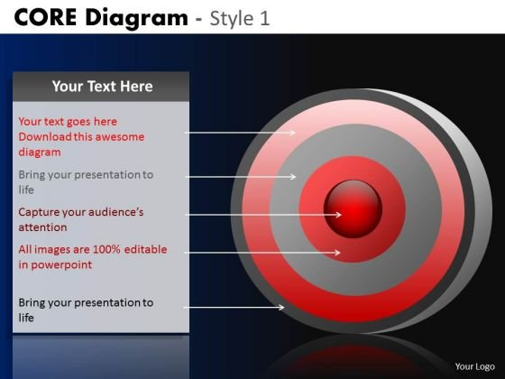 PowerPoint Designs Business Growth Core Diagram Ppt Themes