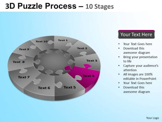 PowerPoint Designs Business Puzzle Segment Pie Chart Ppt Presentation Designs