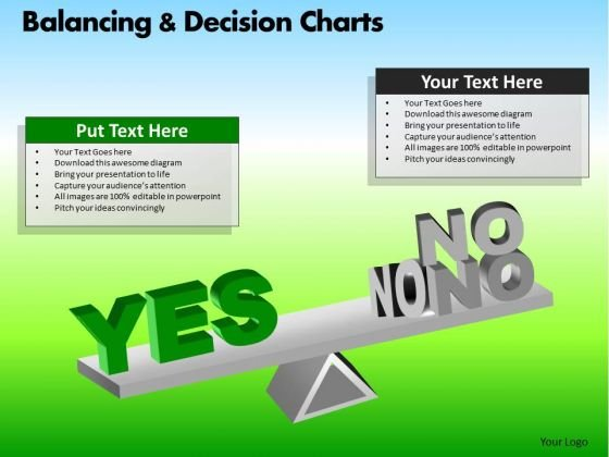 PowerPoint Designs Business Success Balancing Decision Charts Ppt Slides