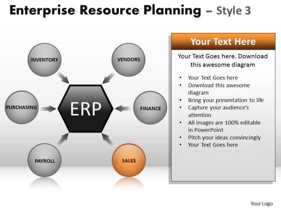 PowerPoint Designs Business Success Enterprise Resource Planning Ppt Template