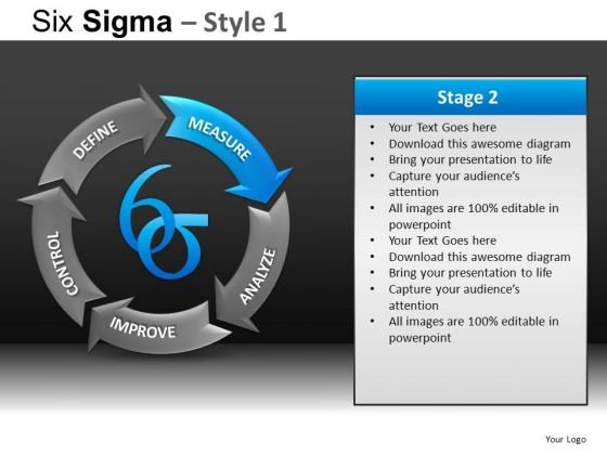 PowerPoint Designs Business Success Six Sigma Ppt Themes