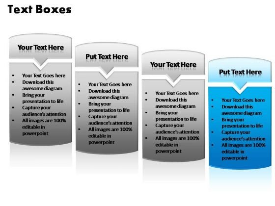 PowerPoint Designs Business Text Boxes Ppt Process