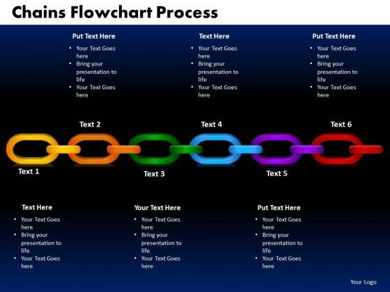 PowerPoint Designs Chains Flowchart Process Business Ppt Slides