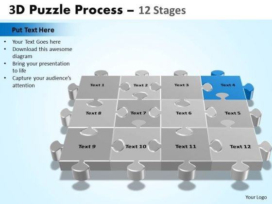 PowerPoint Designs Chart Puzzle Process Ppt Design Slides