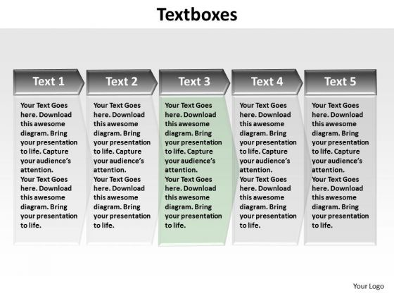 PowerPoint Designs Chart Textboxes Ppt Theme