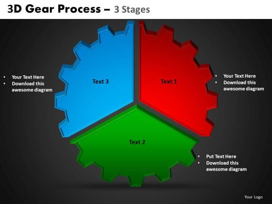 PowerPoint Designs Circle Chart Gear Process Ppt Designs