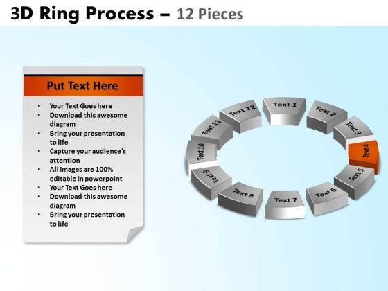 PowerPoint Designs Circle Chart Ring Process Ppt Slide