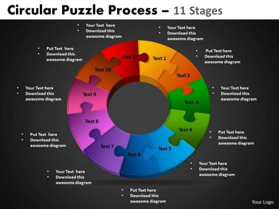 PowerPoint Designs Circular Chart Circular Puzzle Ppt Process