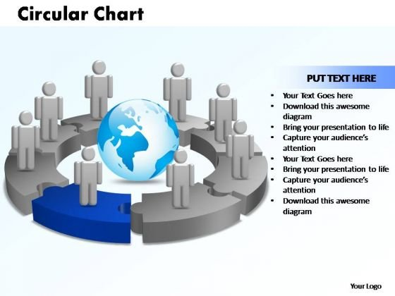 PowerPoint Designs Circular Chart With Globe Ppt Design