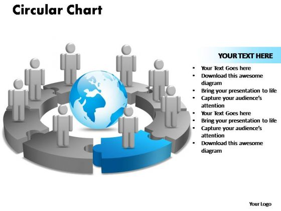 PowerPoint Designs Circular Chart With Globe Ppt Designs