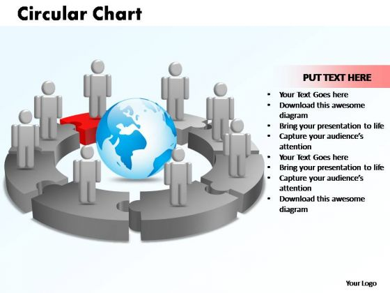 PowerPoint Designs Circular Chart With Globe Ppt Layouts
