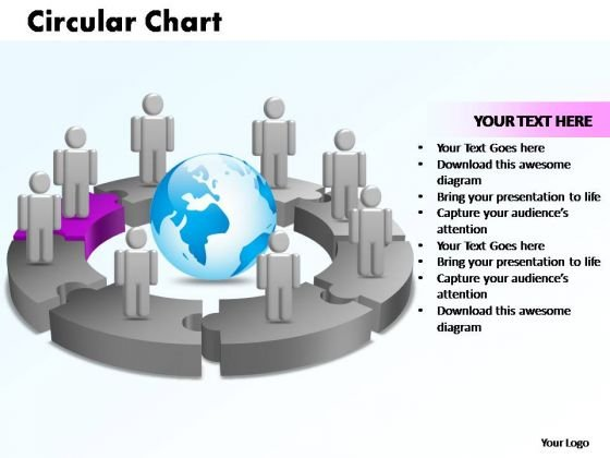 PowerPoint Designs Circular Chart With Globe Ppt Slide