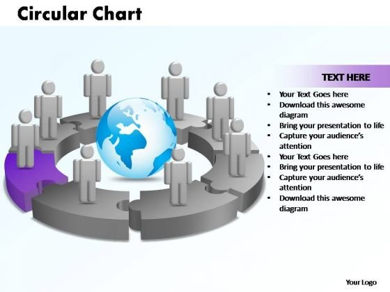 PowerPoint Designs Circular Chart With Globe Ppt Slides