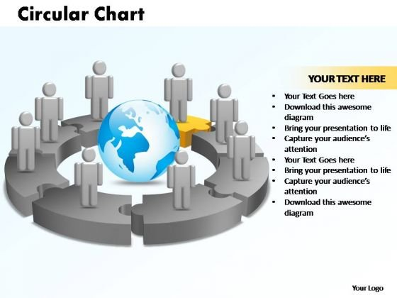 PowerPoint Designs Circular Chart With Globe Ppt Template