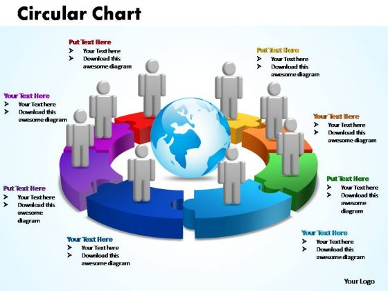 PowerPoint Designs Circular Chart With Globe Ppt Templates