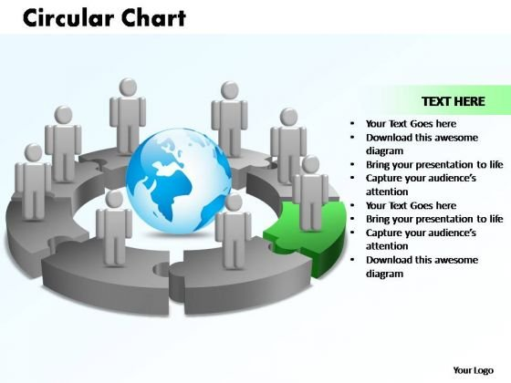 PowerPoint Designs Circular Chart With Globe Ppt Theme