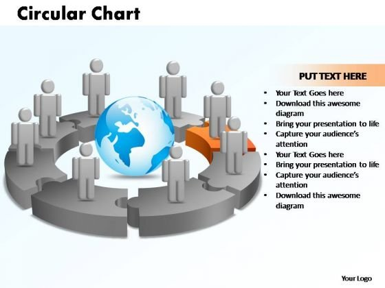 PowerPoint Designs Circular Chart With Globe Ppt Themes
